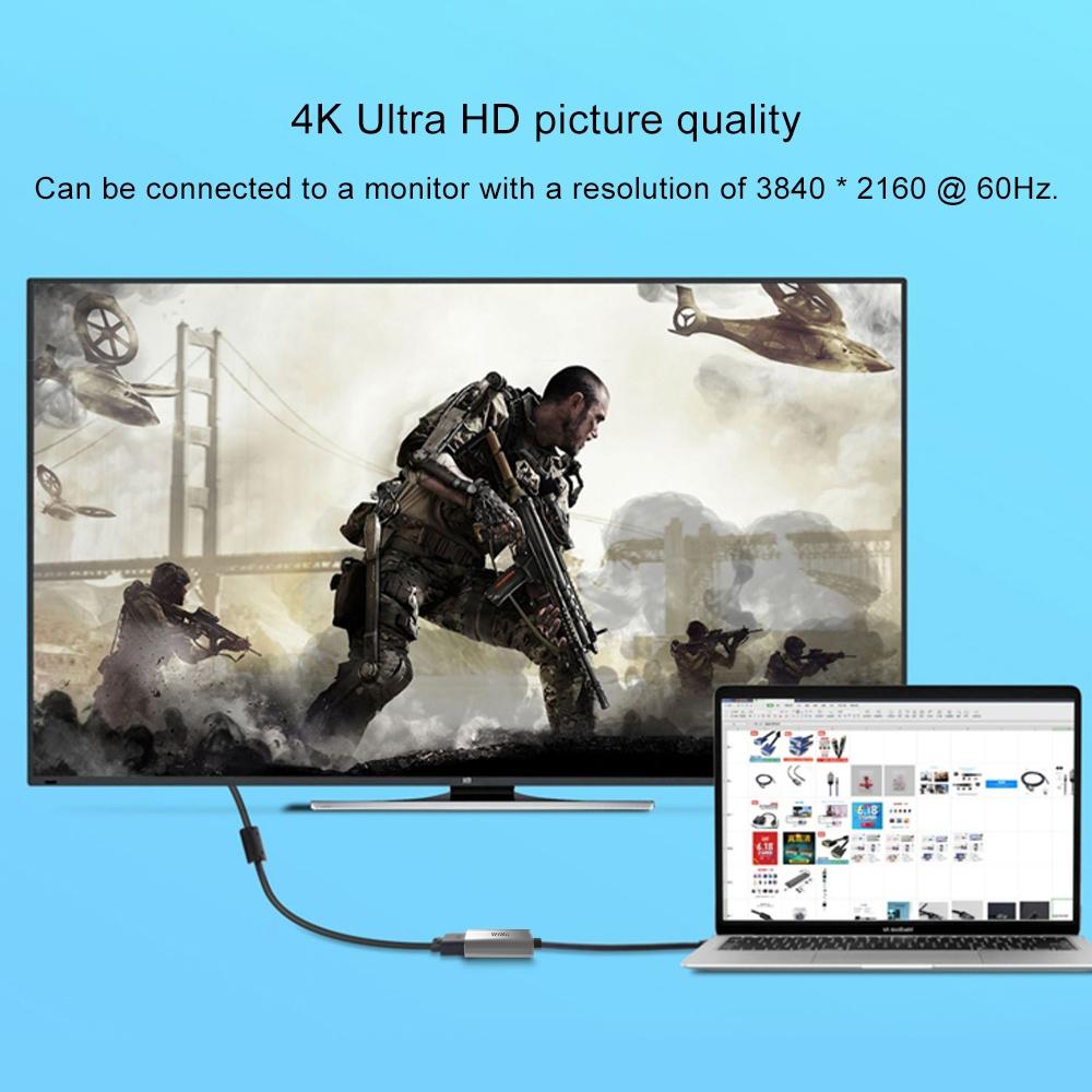 WIWU Alpha USB-C/Type-C to HDMI Hub, Length:110mm