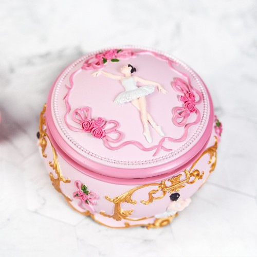 Ballet Girl Rotating Dancing Music Box Creative Birthday Gift, Music: Swan Lake