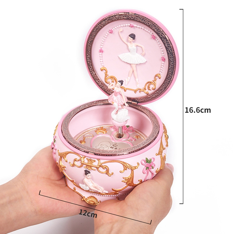 Ballet Girl Rotating Dancing Music Box Creative Birthday Gift, Music: Castle in the Sky