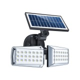 42 LEDs Home Courtyard Waterproof Double Heads Rotatable Solar Wall Light Street Light
