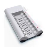 100-240V 8 Slot Battery Charger for AA & AAA Battery, UK Plug