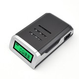 AC 100-240V 4 Slot Battery Charger for AA & AAA Battery, with LCD Display, UK Plug
