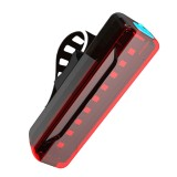 A02 Bicycle Taillight Bicycle Riding Motorcycle Electric Car LED Mountain Bike USB Charging Safety Warning Light (3 Hours, Plastic Bag)