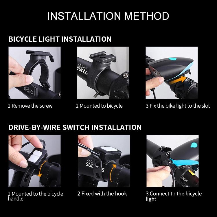 USB Charging Bike LED Riding Light, Charging 3 Hours (Black)