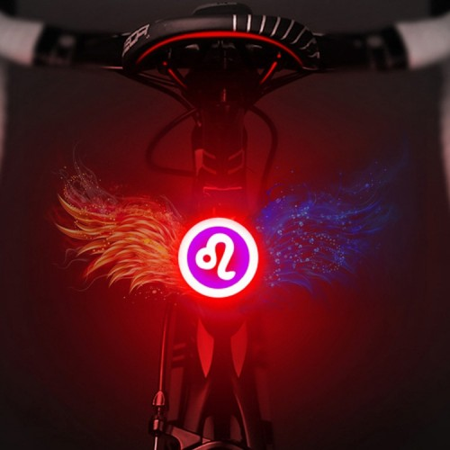 USB Charging Red Blue Color Riding Light Rear Lamp Safety Warning Light (Leo Style)