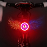 USB Charging Red Blue Color Riding Light Rear Lamp Safety Warning Light (Libra Style)