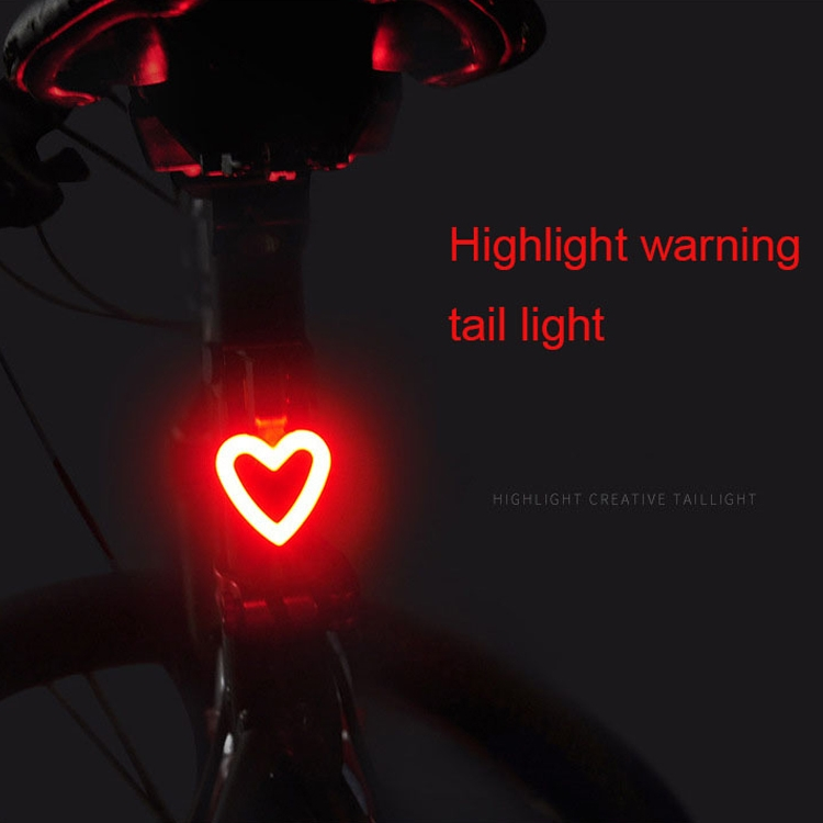 USB Charging Red Blue Color Riding Light Rear Lamp Safety Warning Light (Bone Style)