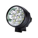 Mountain Bike Light Headlights T6 Glaring Flashlight Waterproof Shockproof Night Riding Equipment (Black)