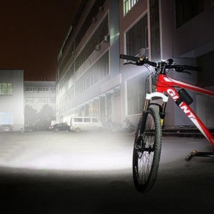 Mountain Bike Light Headlights T6 Glaring Flashlight Waterproof Shockproof Night Riding Equipment (Red)