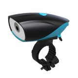 USB Charging Bike LED Riding Light, Charging 6 Hours with Horn & Line Control (Blue)