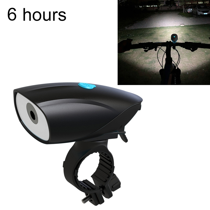 USB Charging Bike LED Riding Light, Charging 6 Hours (Black)