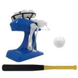 Outdoor Family Games Baseball Automatic Server Mini Baseball Machine Toys (Blue)