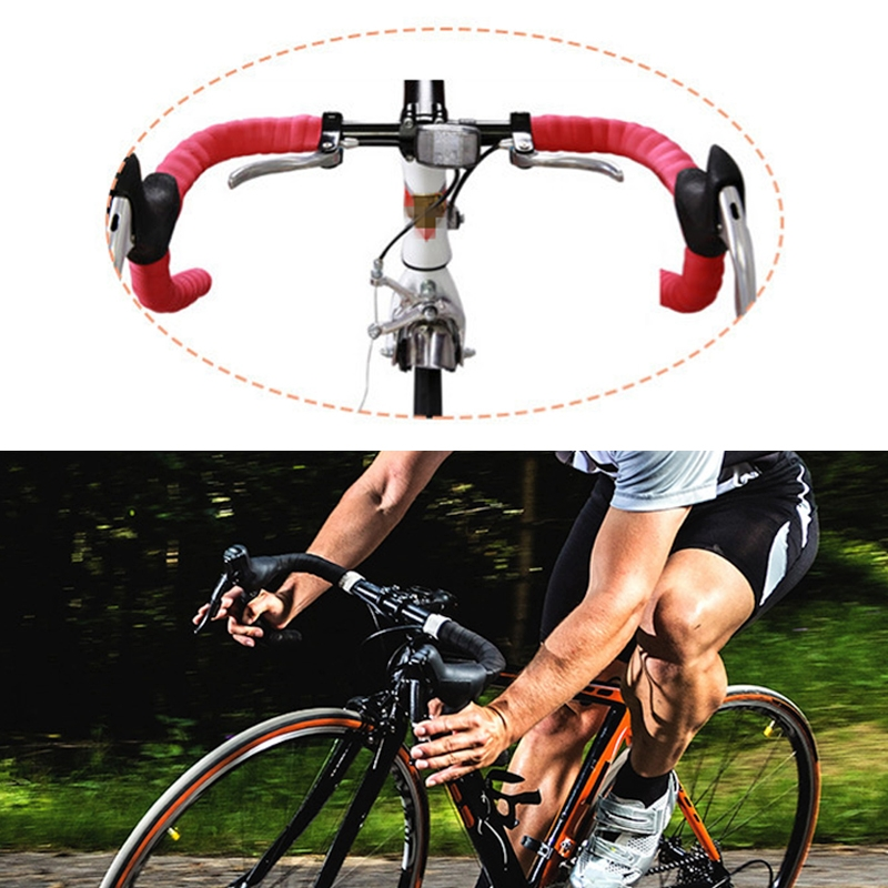 ROAD BIKE CORK HANDLEBAR TAPE BICYCLE BAR WRAP RIBBON PINK NEW