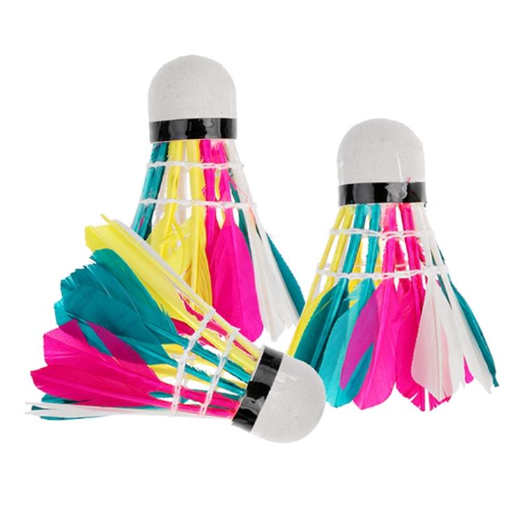 3 PCS Colorful Badminton, Suitable for Home Entertainment