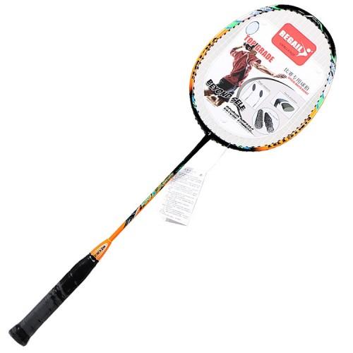 REGAIL 8019 2 PCS Carbon Durable Badminton Racket for Beginners (Orange)
