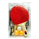 4 in 1 Table Tennis Racket + Table Tennis + Net + Rack Set