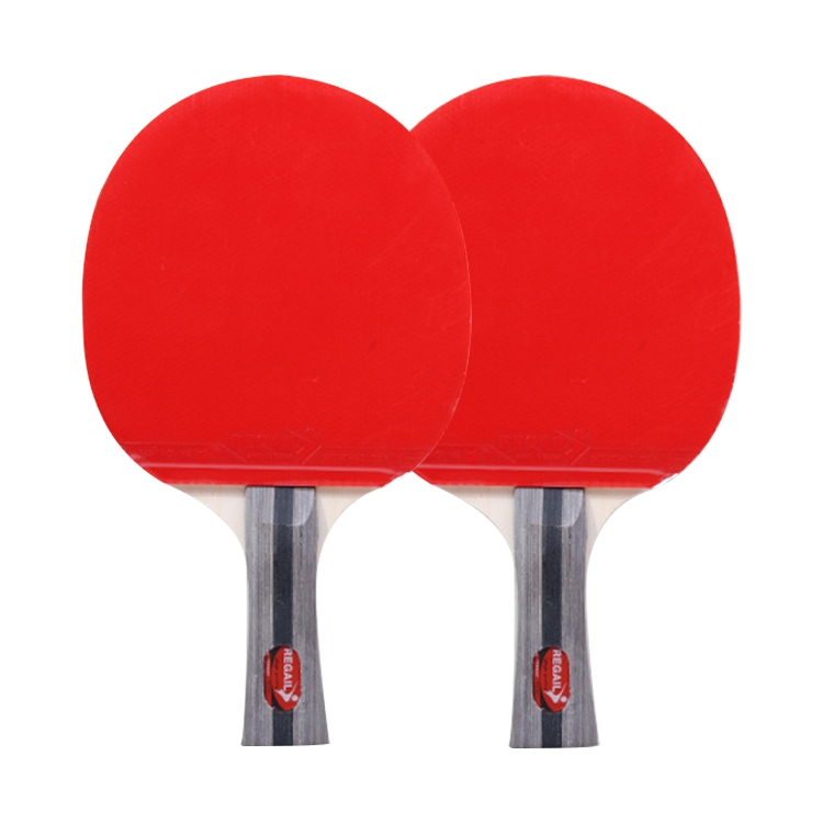 REGAIL 8020 2 in 1 Long Handle Shakehand Ping Pong Racket + Ping Pong Ball Set for Training