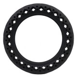 8.5 inch Electric Scooter Wear-resistant Shock-absorbing Decorative Pattern Tire Honeycomb Solid Tire, Suitable for Xiaomi Mijia M365 (Black)