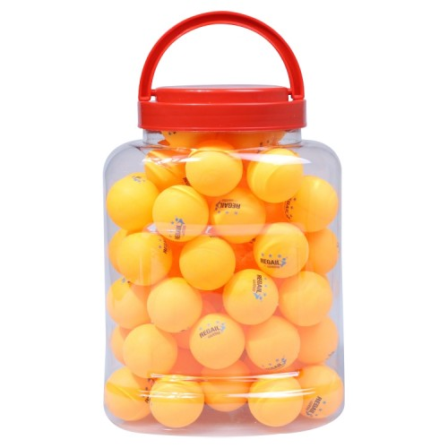 REGAIL 60 PCS Barrel Celluloid Table Tennis Training Ball (Blue + Yellow)