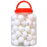 REGAIL 60 PCS Barrel Celluloid Table Tennis Training Ball (White)