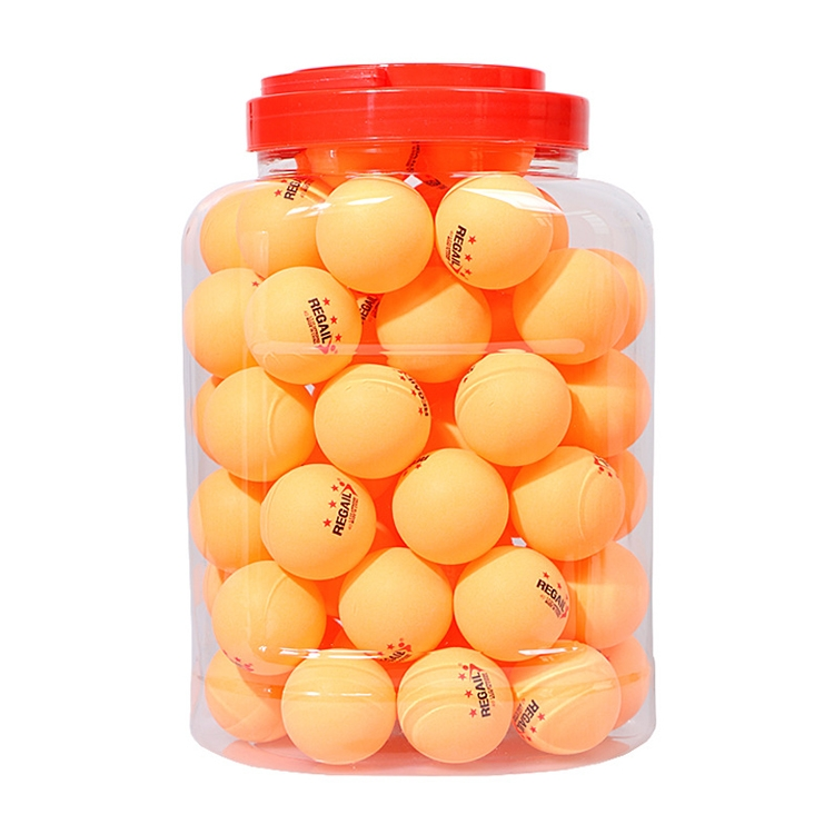 REGAIL 60 PCS Barrel Celluloid Table Tennis Training Ball (Yellow)