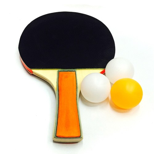 2 in 1 Thick Table Tennis Racket + Table Tennis Set