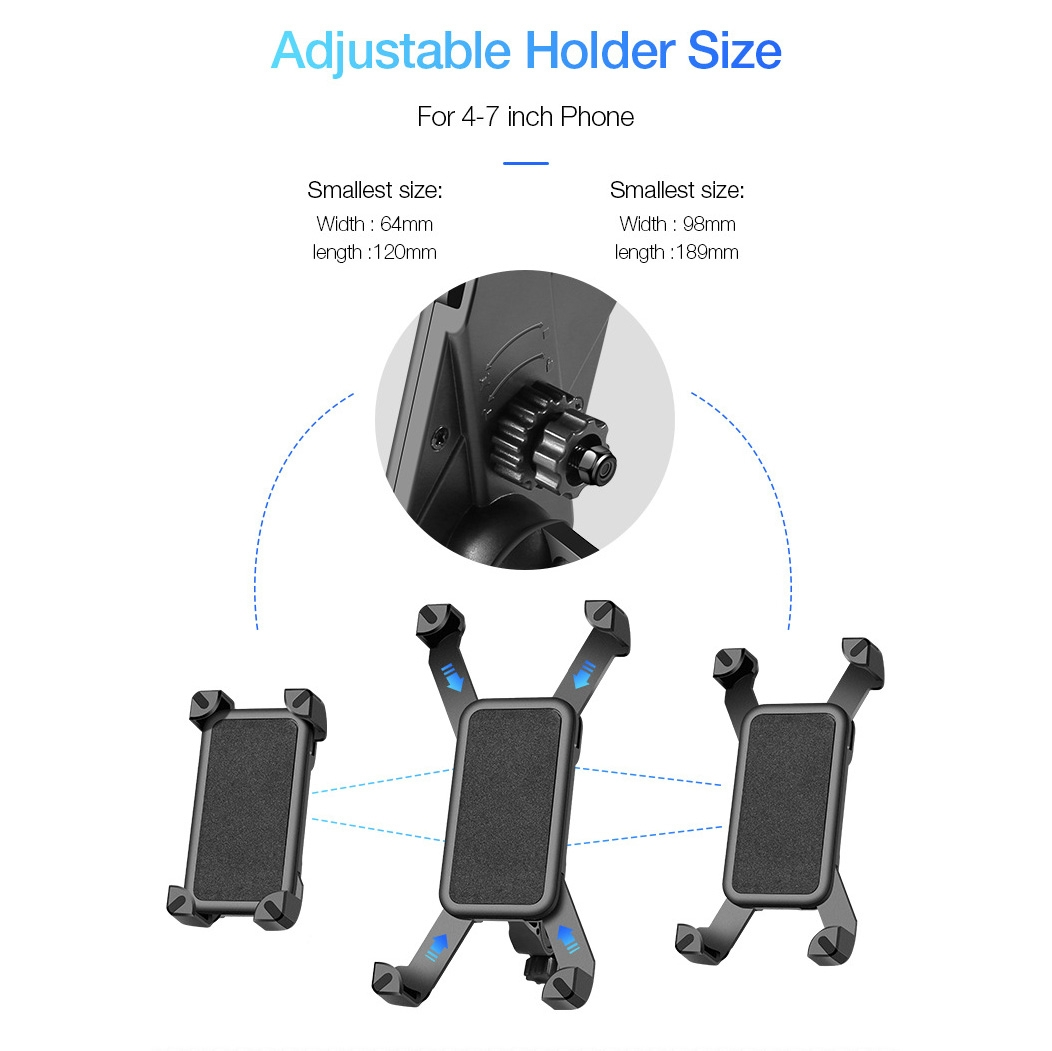 FLOVEME Multi-function Universal 360 Degree Rotatable Motorcycle Bicycle Mobile Phone Holder