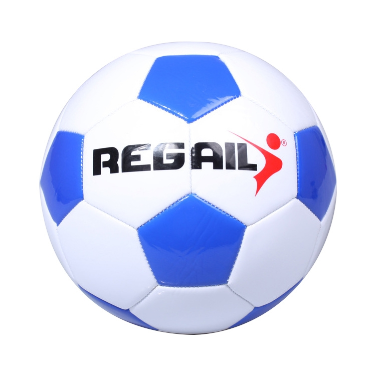 REGAIL No. 4 Explosion-proof Machine-stitched Football for Teenagers Training (Blue)