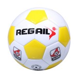 REGAIL No. 4 Explosion-proof Machine-stitched Football for Teenagers Training (Yellow)