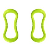 2 PCS PP Double Massage Point Yoga Circle Fascia Stretching Ring Pilates Resistance Ring (Green)