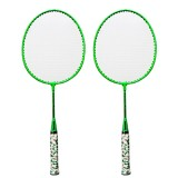 REGAIL H6508 Badminton Racket + Racket Cover + Rainbow Badminton Set for Children (Green)