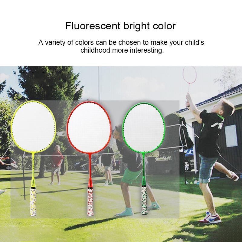 REGAIL H6508 Badminton Racket + Racket Cover + Rainbow Badminton Set for Children (Green)