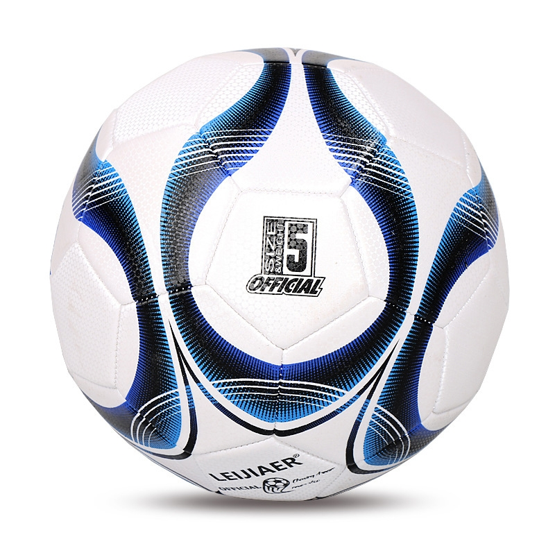 LEIJIAER 5093 No. 5 Double-layer Explosion-proof Wear-resistant Football for Adults (Blue)
