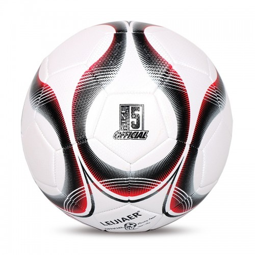LEIJIAER 5093 No. 5 Double-layer Explosion-proof Wear-resistant Football for Adults (Red)