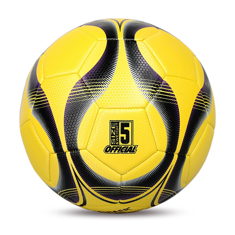 LEIJIAER 5093 No. 5 Double-layer Explosion-proof Wear-resistant Football for Adults (Yellow)