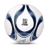 LEIJIAER 4401 No. 4 Double-layer Explosion-proof Wear-resistant Football for Children (Blue)
