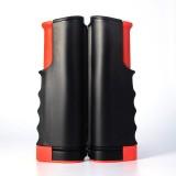 REGAIL Retractable Portable Table Tennis Net Rack (Black Red)