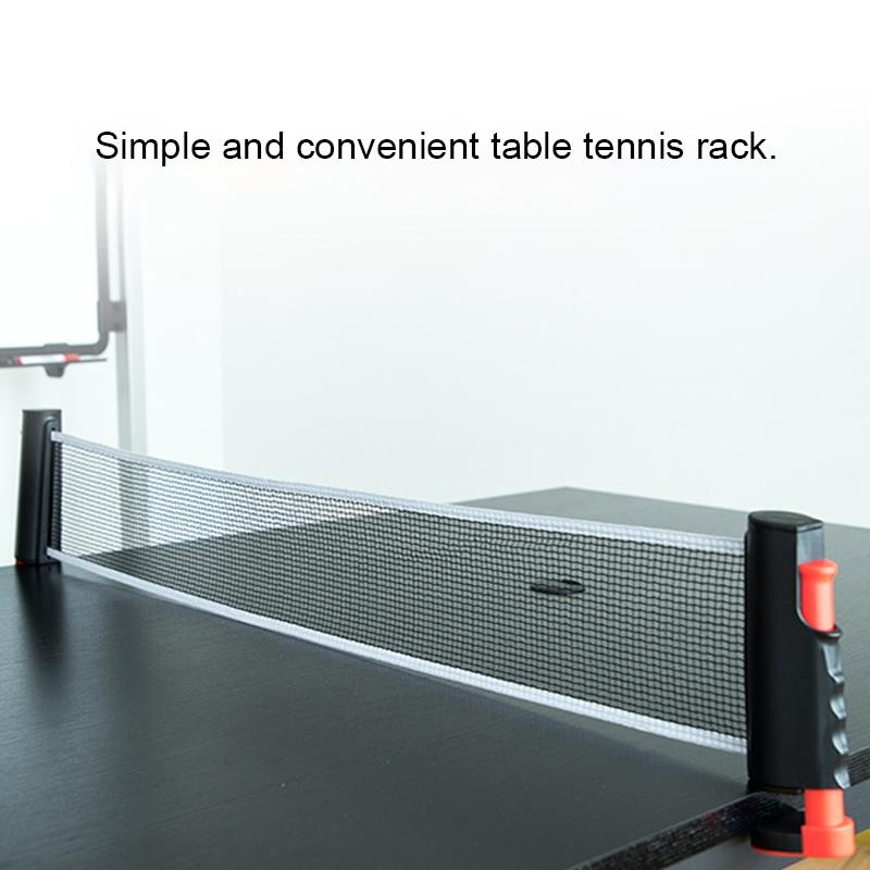 REGAIL Retractable Portable Table Tennis Net Rack (Black Red)