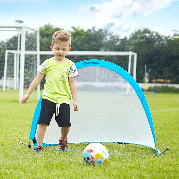 Portable Semi-circular Football Training Gate for Children, Size: 120cm (Blue)