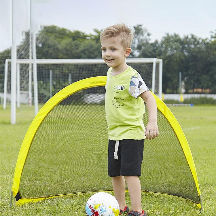 Portable Semi-circular Football Training Gate for Children, Size: 120cm (Yellow)