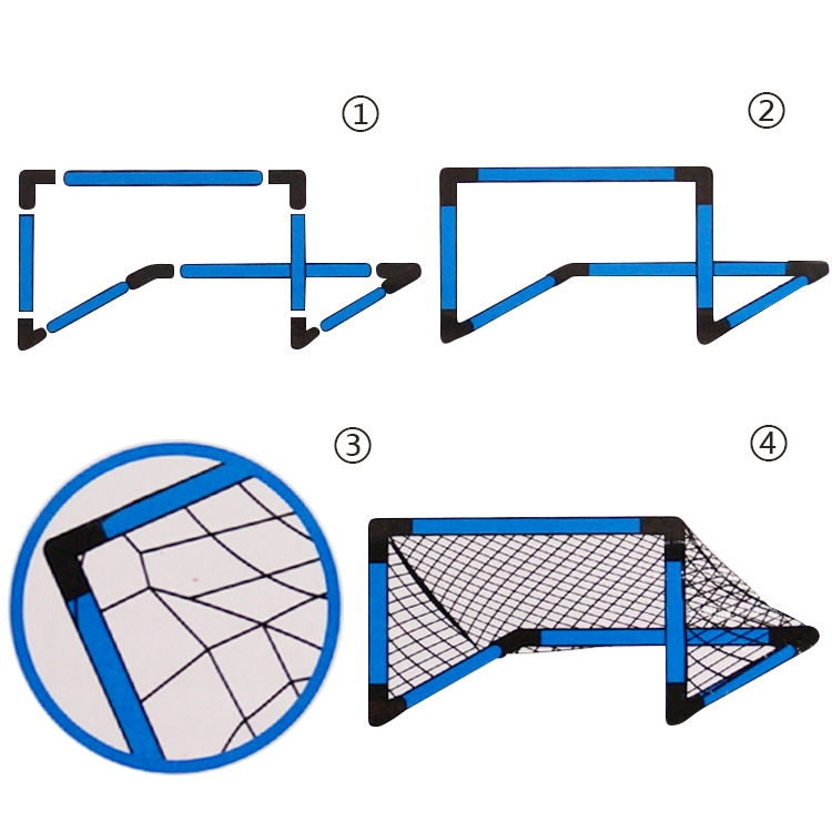 Indoor and Outdoor Portable Football Gate for Children, Size: 90 x 65 x 42cm