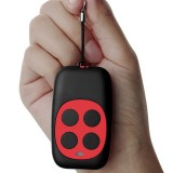 Colorful Four-Key Copying Remote Garage Door Gate Wireless Remote Control 433MHZ Copy Key Cloning Duplicator (Red)