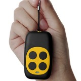 Colorful Four-Key Copying Remote Garage Door Gate Wireless Remote Control 433MHZ Copy Key Cloning Duplicator (Yellow)