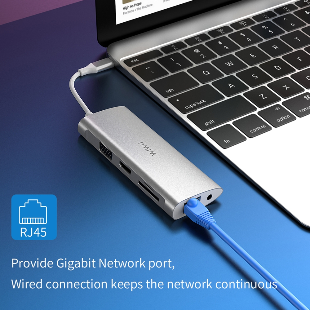 WIWU A11 11 In 1 Type-C / USB-C Multifunctional Extension HUB Adapter