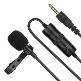 PULUZ 3.5mm Jack Lavalier Omnidirectional Condenser Recording Video Microphone, Length: 6m