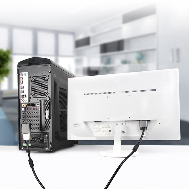 Display Port Male to VGA Female Converter, Length: 20cm (White)