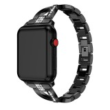 For Fitbit Versa / Fitbit Versa 2 / Fitbit Versa Lite Edition Universal X-shaped Metal Strap (Black)
