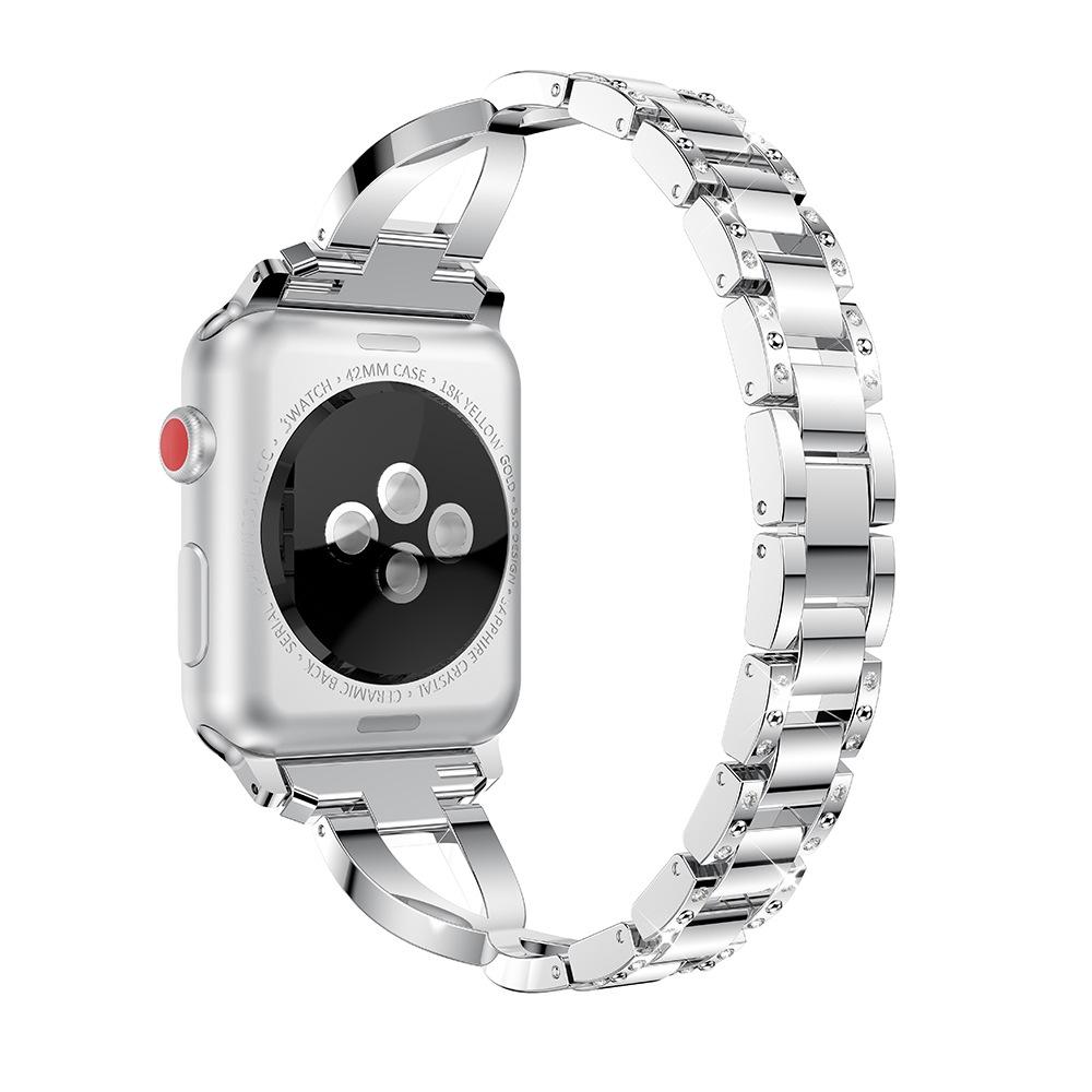 For Fitbit Versa / Fitbit Versa 2 / Fitbit Versa Lite Edition Universal X-shaped Metal Strap (Sliver)