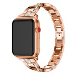 For Fitbit Versa / Fitbit Versa 2 / Fitbit Versa Lite Edition Universal X-shaped Metal Strap (Rose Gold)