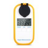 DR401 Digital Display Refractometer Brix 0-50% Alcohol Range 0~22% Refractometer Beer Wine Fruit Grape Sugar Saccharimeter